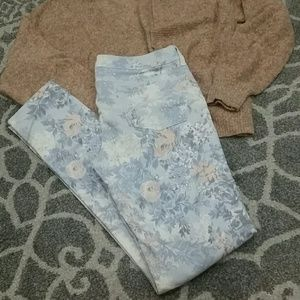AE Floral denim jeggings